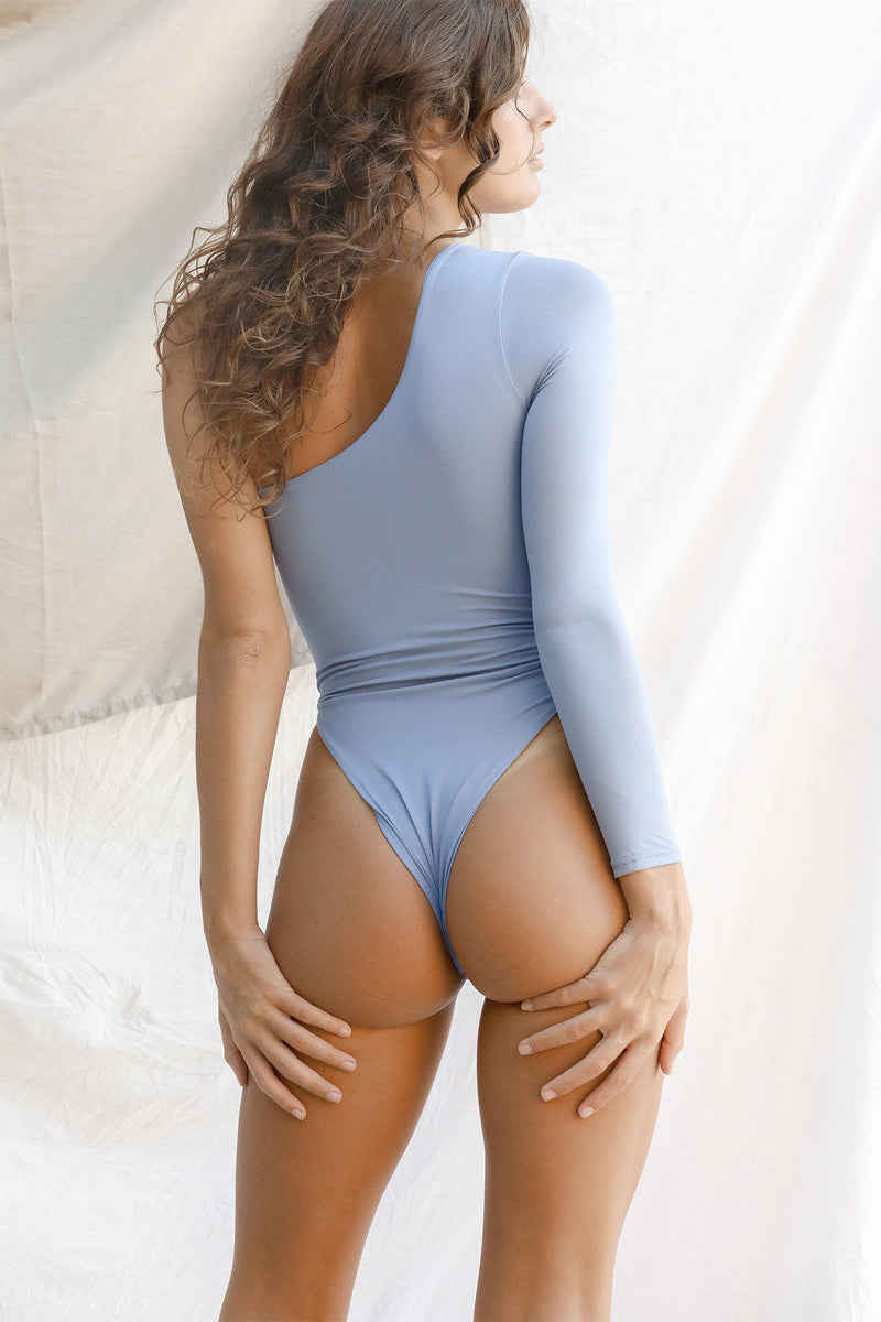 Signature One Shoulder One Piece (Slate)
