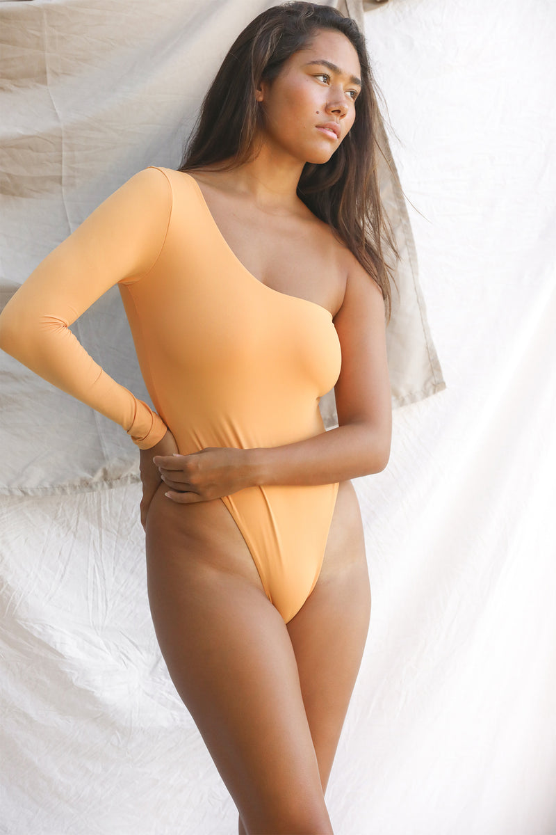 Signature One Shoulder One Piece (Gold Earth)