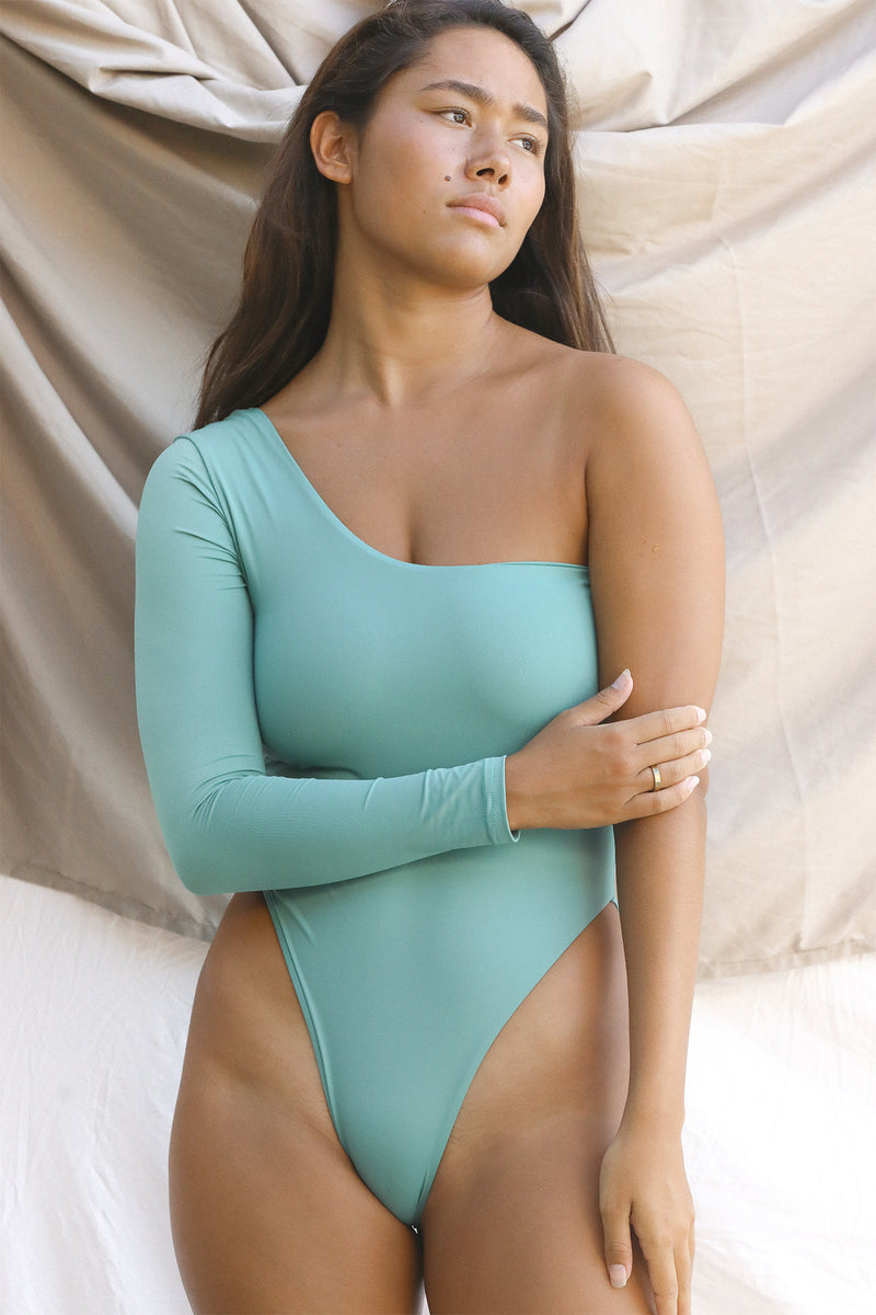 Signature One Shoulder One Piece (Spruce)