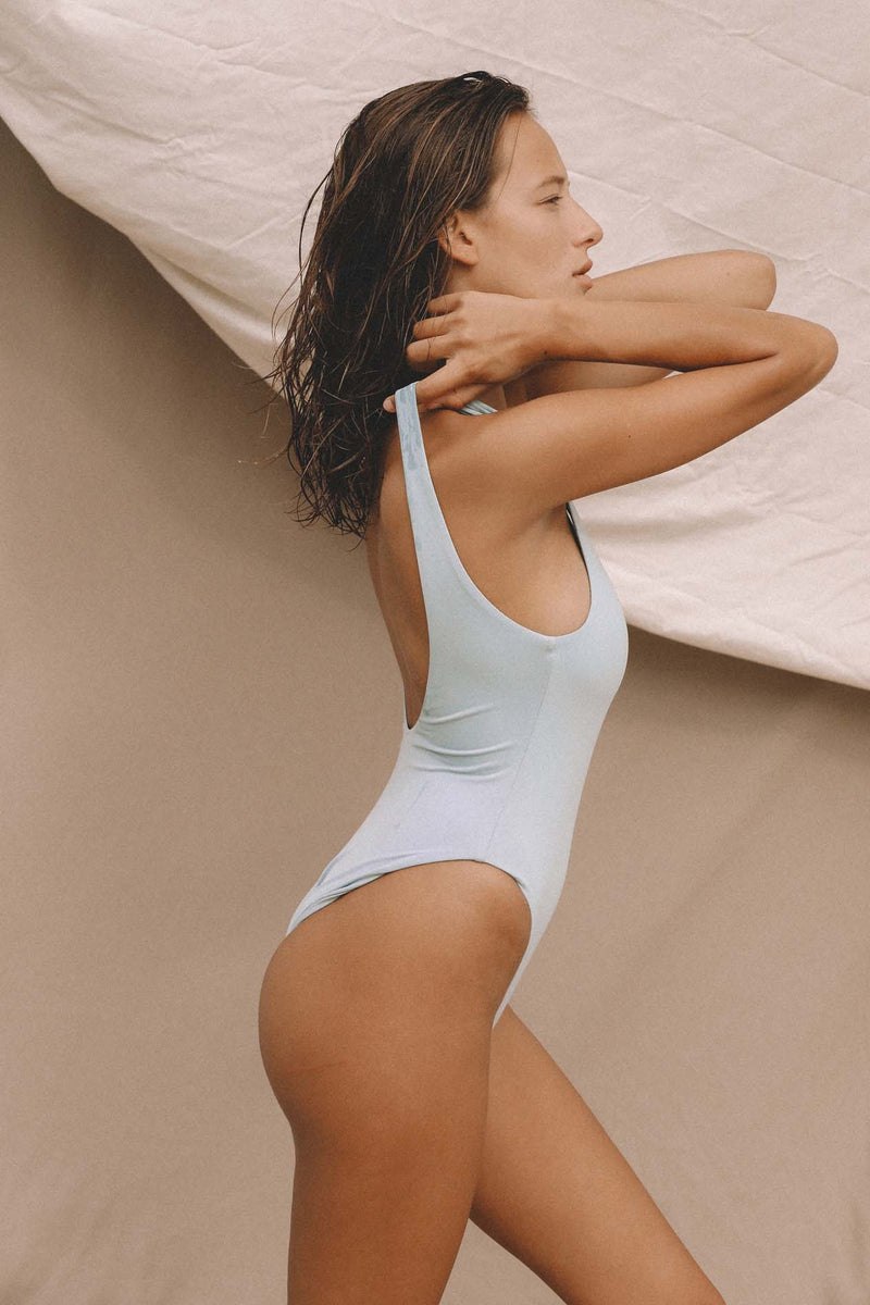 Signature Scoop One Piece (Powder Blue) *FINAL SALE*