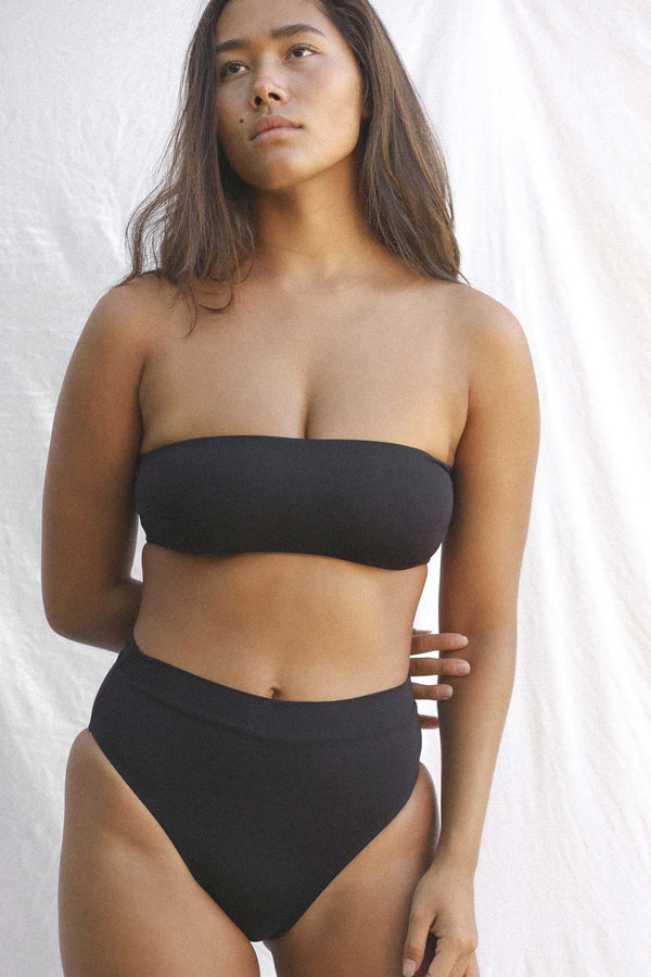 Signature Bandeau Top (Black Bean)