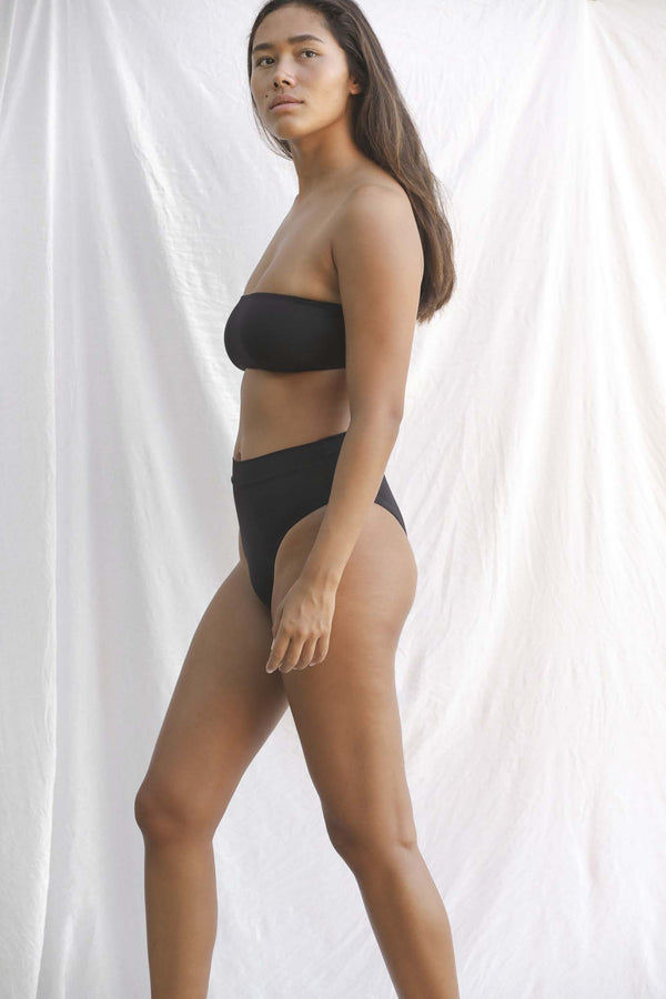 Signature High Waist Bottom (Black Bean)