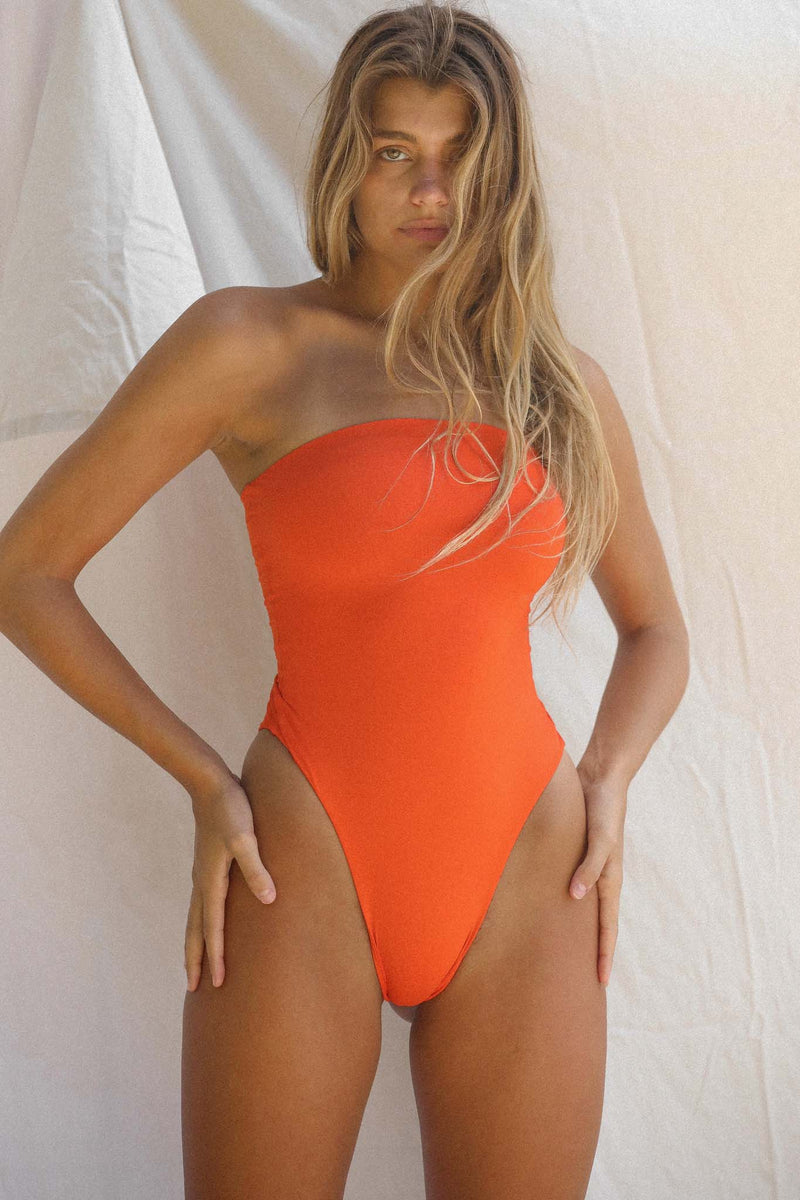 Signature Tube One Piece (Red Orange)