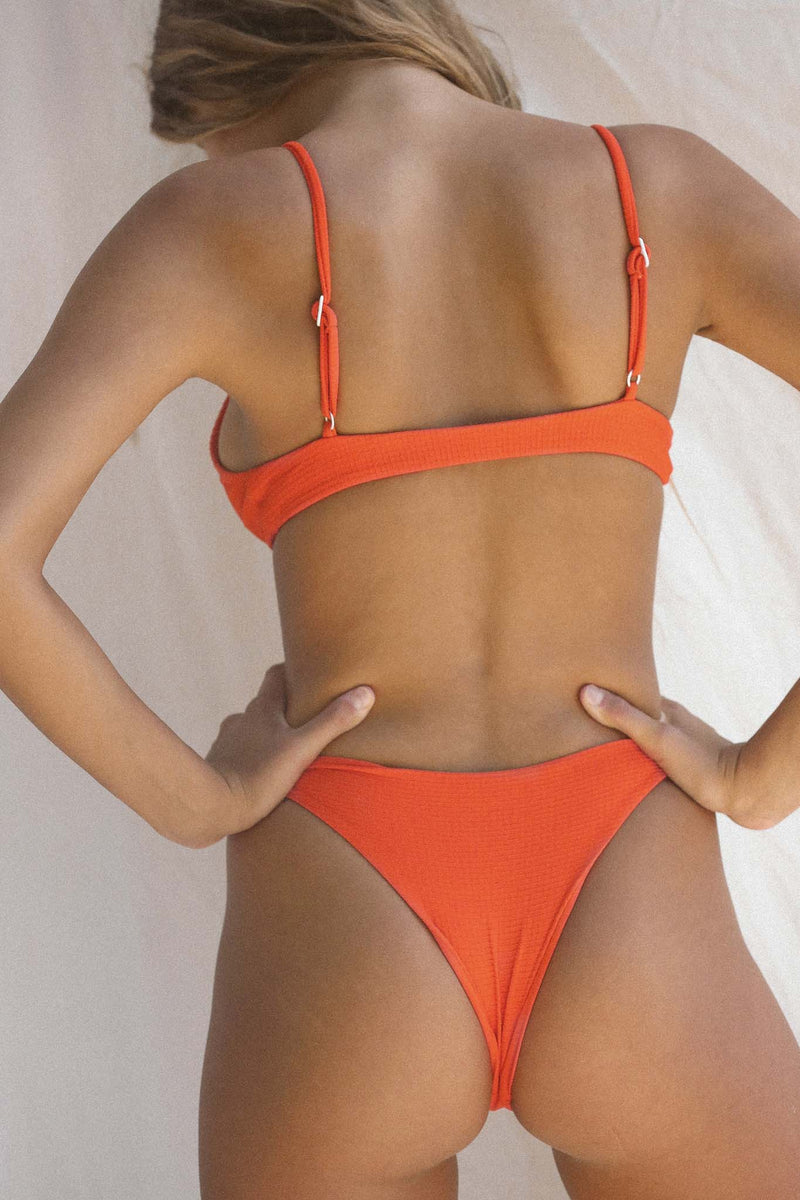 Signature Skimpy Bottom (Red Orange Waffle)