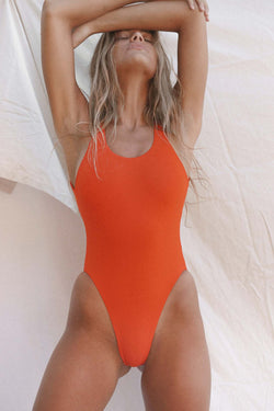 Signature Scoop One Piece (Red Orange)