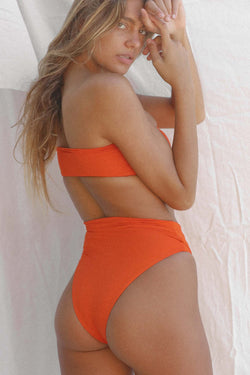 Signature High Waist Bottom (Red Orange)