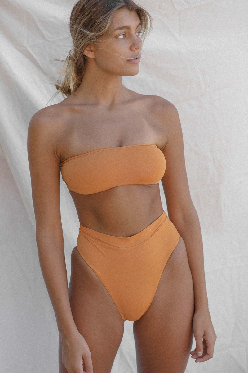 Signature High Waist Bottom (Golden Ochre)