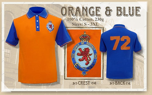 The Spirit of 72 Orange & Blue Polo Shirt