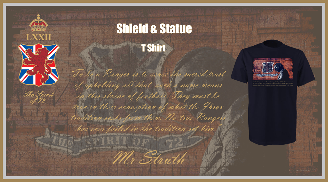 The Spirit of 72 Shield & Statue T Shirt