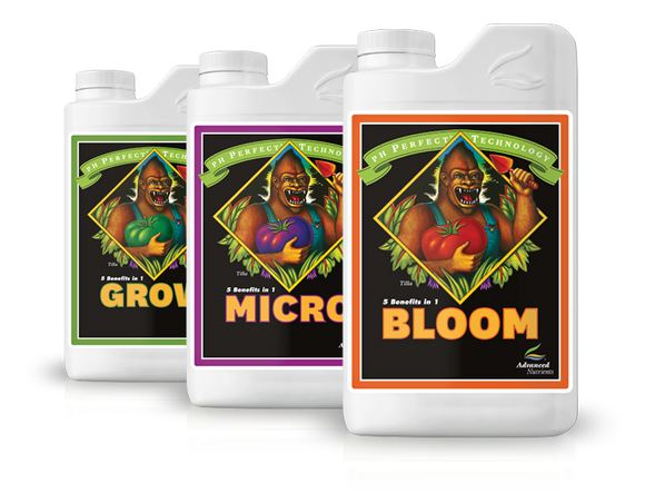 Kit Fertilizzanti Intero Ciclo di Fioritura : Grow, Micro, Bloom Advanced Nutrients