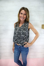Load image into Gallery viewer, Animal Print Satin Top
