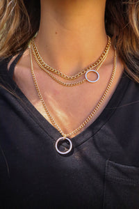 Ring Pendant Layered Necklace
