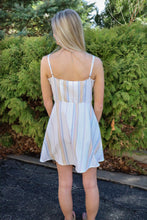 Load image into Gallery viewer, Skylar Stripe Mini Dress