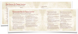 "Trauma Recovery Handbook for Survivors: NEW Larger SIZE!! (11"" x 8.5"") - 15% Off for 5 or more!"