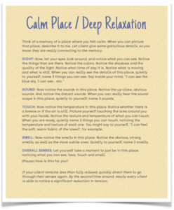 Calm/Relaxation Script - 1st Edition