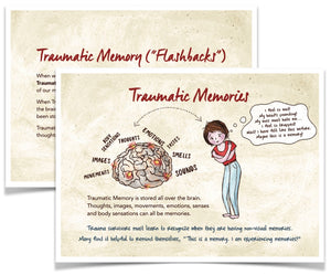 "Take-Home Tools for Survivors - Trauma Memories Postcard (5""x7"")"