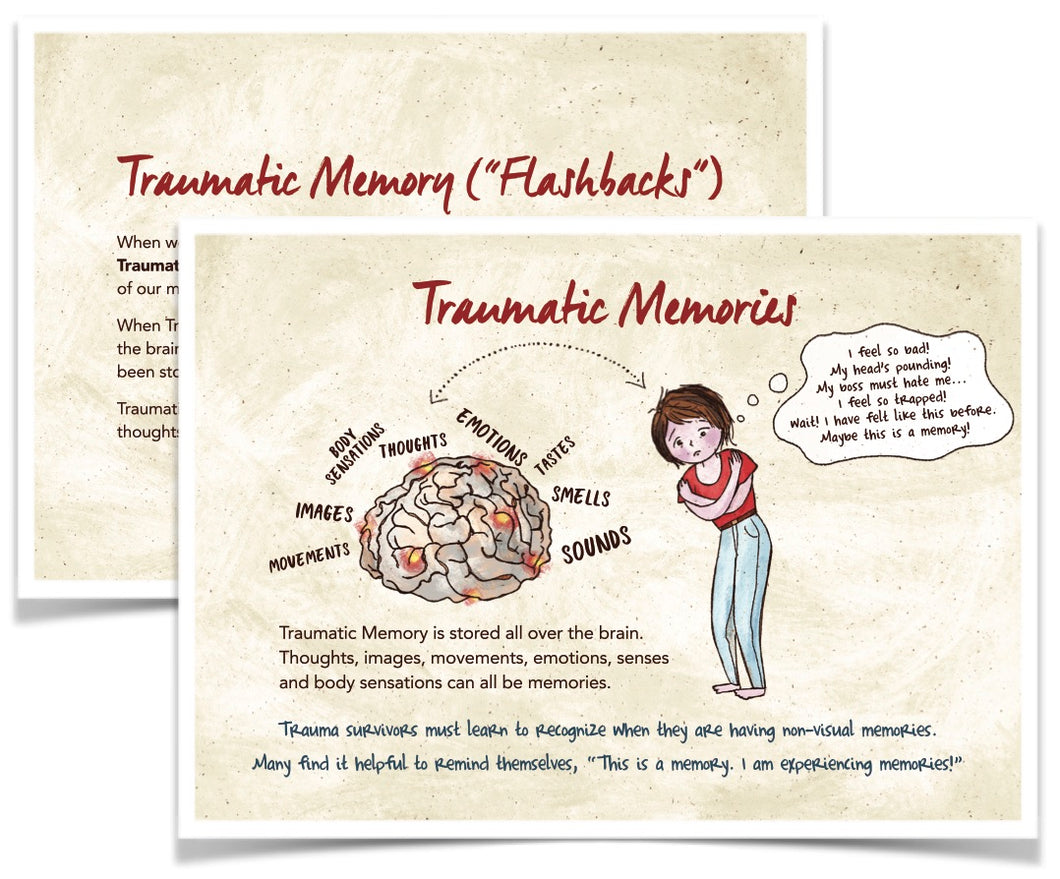Take-Home Tools for Survivors - Trauma Memories Postcard (5
