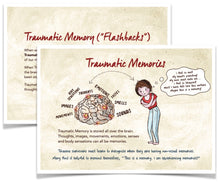 Load image into Gallery viewer, 10-Pack - 'Traumatic Memories' Postcards for Clients (10 for $15.00)!