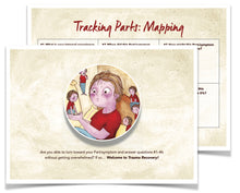 Load image into Gallery viewer, 10-Pack - 'Tracking Parts: Mapping' Postcards for Clients (10 for $15.00)!!