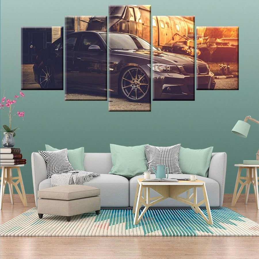 Loftdeco 1704 5 Pieces HD Print Painting Sports Car BMW Painting Home Decor For Living Room Picture Wall Art Canvas Modern Artwork toile peinture decoration  art moderne  popart
