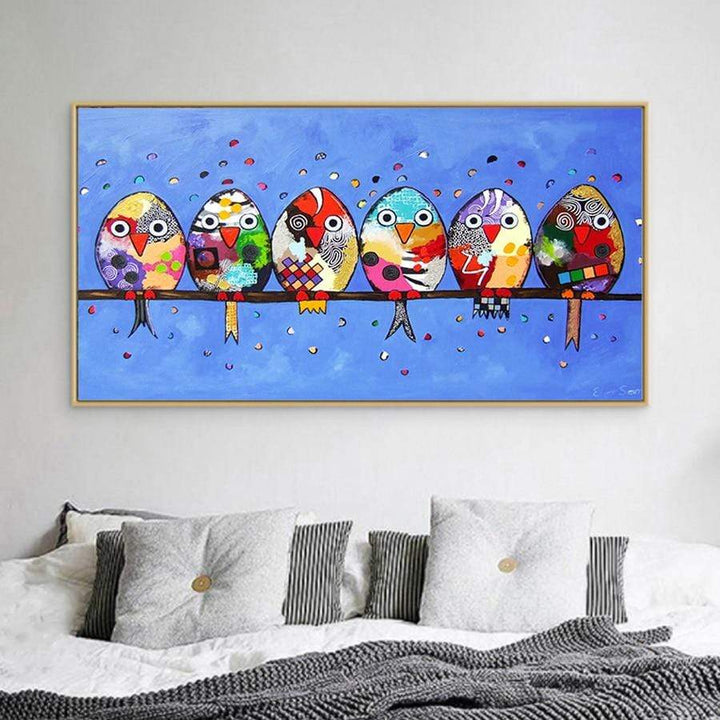 Loftdeco 200003953 Abstract Birds owl 5d diy diamond painting cross stitch animal full drill Diamond Embroidery mosaic wall painting home decor toile peinture decoration  art moderne  popart