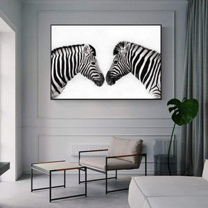 Loftdeco 1704 Black And White Line Canvas Art Paintings On The Wall Abstract Zebra Animals Wall Posters And Prints Cuadros Pictures Home Decor toile peinture decoration  art moderne  popart