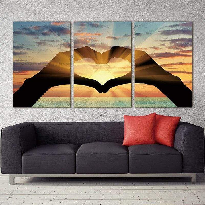 Loftdeco 1704 Canvas painting wall art picture print Ocean Hearts Modular pictures painting on the wall paintings oil painting toile peinture decoration  art moderne  popart