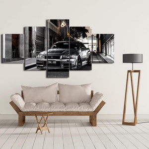 Loftdeco 1704 Canvas Paintings HD Print Frame Artwork Modern 5 Pieces Nissan Skyline Gtr Car Pictures Bedside Home Decorative Wall Art Posters toile peinture decoration  art moderne  popart