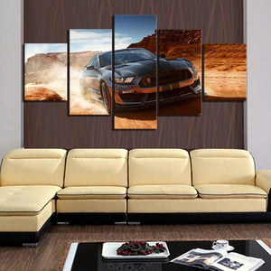 Loftdeco 1704 Canvas Poster Modern Home Decor 5 Panel Ford Mustang Luxury Car Print Painting Building Wall Artwork Modular Picture Living Room toile peinture decoration  art moderne  popart