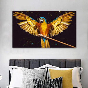Loftdeco 1704 20x35cm / 1043parrot Gold Parrot Bird Animal Posters And Prints Canvas Painting Home Decor Wall Art For Living Room Decoration Pictures For Home toile peinture decoration  art moderne  popart