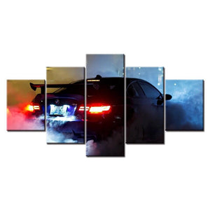 Loftdeco 1704 HD Print 5 pieces New Style BMW M3 Super Sports Car canvas painting modern home decor wall art picture living room decor art toile peinture decoration  art moderne  popart