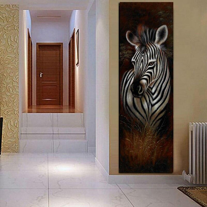 Loftdeco 1704 HD Print Abstract Black and White Zebra Oil Painting on Canvas Modern Wall Art Animal Picture Poster For Living Room Cuadros toile peinture decoration  art moderne  popart