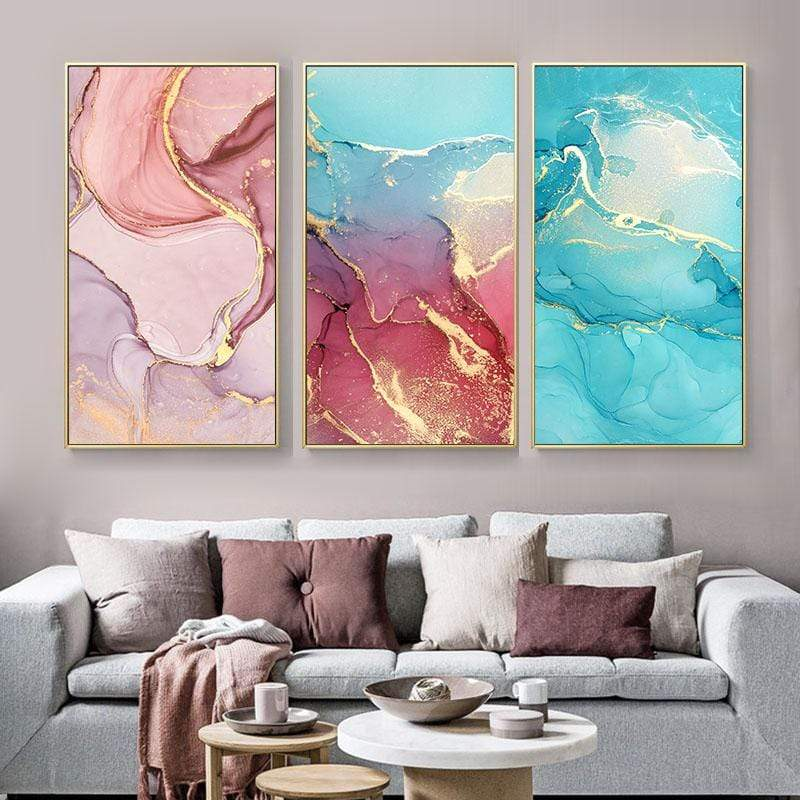 Loftdeco 1704 Mix Color Marble Vein Abstract Canvas Painting Poster Print on Canvas Wall Painting Wall Art Pictures For Living Room Home Decor toile peinture decoration  art moderne  popart