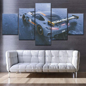Loftdeco 1704 Modular Combinatorial Art Style Painting Modern Home Decor Wall 5 Pieces The Crew 2 Mercedes Amg GTR Canvas Print Car Picture toile peinture decoration  art moderne  popart