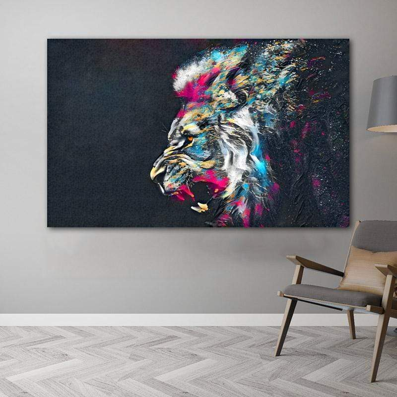 Loftdeco 1704 RELIABLI ART Abstract Lion Posters And Print Quadro Animal Pictures For Home Canvas Painting Wall Art For Living Room Decoration toile peinture decoration  art moderne  popart