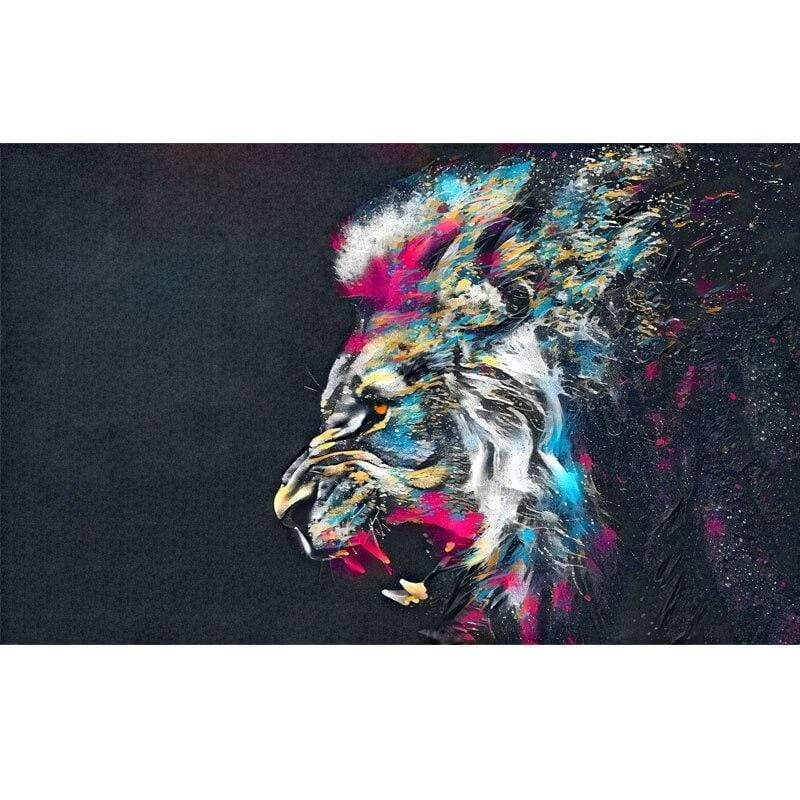 Loftdeco 1704 20x30cm / 4528034 lion RELIABLI ART Abstract Lion Posters And Print Quadro Animal Pictures For Home Canvas Painting Wall Art For Living Room Decoration toile peinture decoration  art moderne  popart
