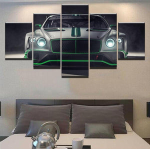 Loftdeco 1704 Wall Canvas Art Poster Framework For Living Room Home Decorative 5 Piece GT3 Silver Race Car Pictures Painting Modern HD Printed toile peinture decoration  art moderne  popart