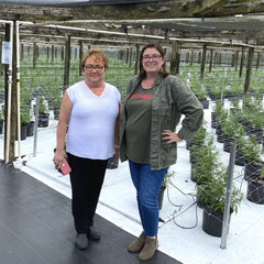 Holly Bell and Jammie Treadwell at Treadwell Farms Nursery