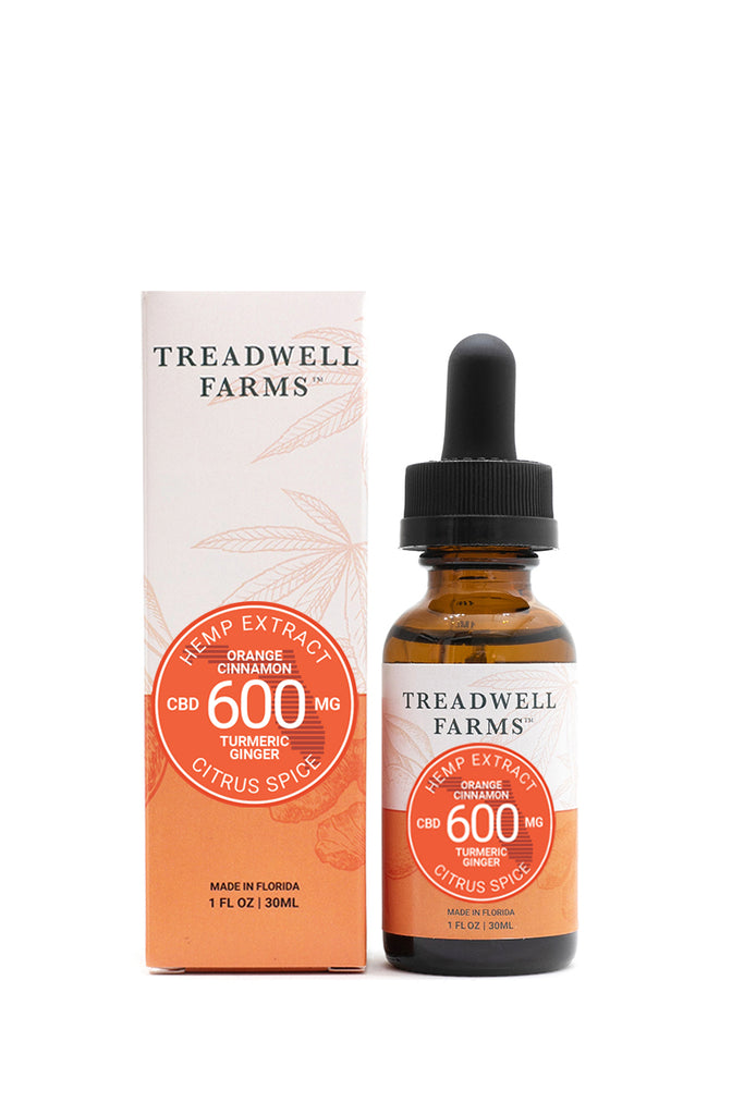 Treadwell Farms Citrus Spice Hemp Extract box and bottle