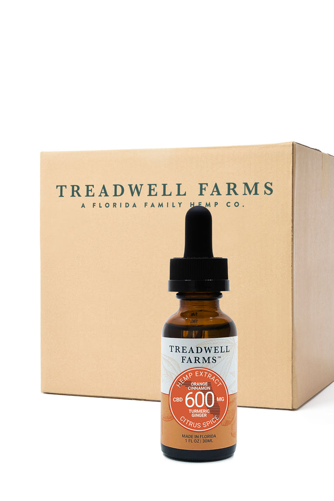Treadwell Farms Citrus Spice Hemp Extract 9 bottle cases available