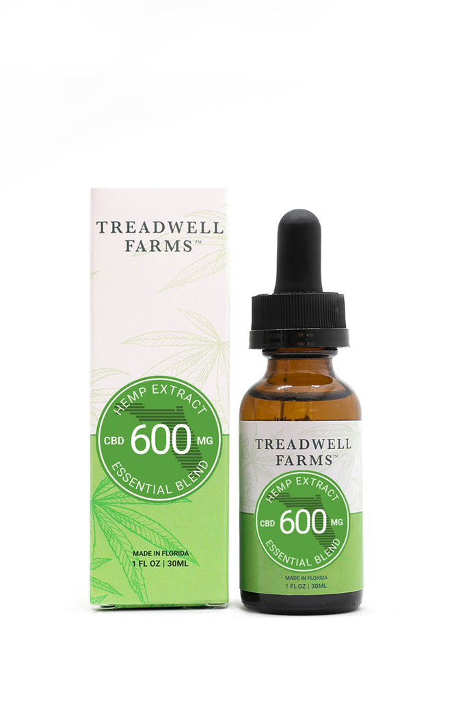 Treadwell Farms Essential Blend Hemp Extract box and bottle