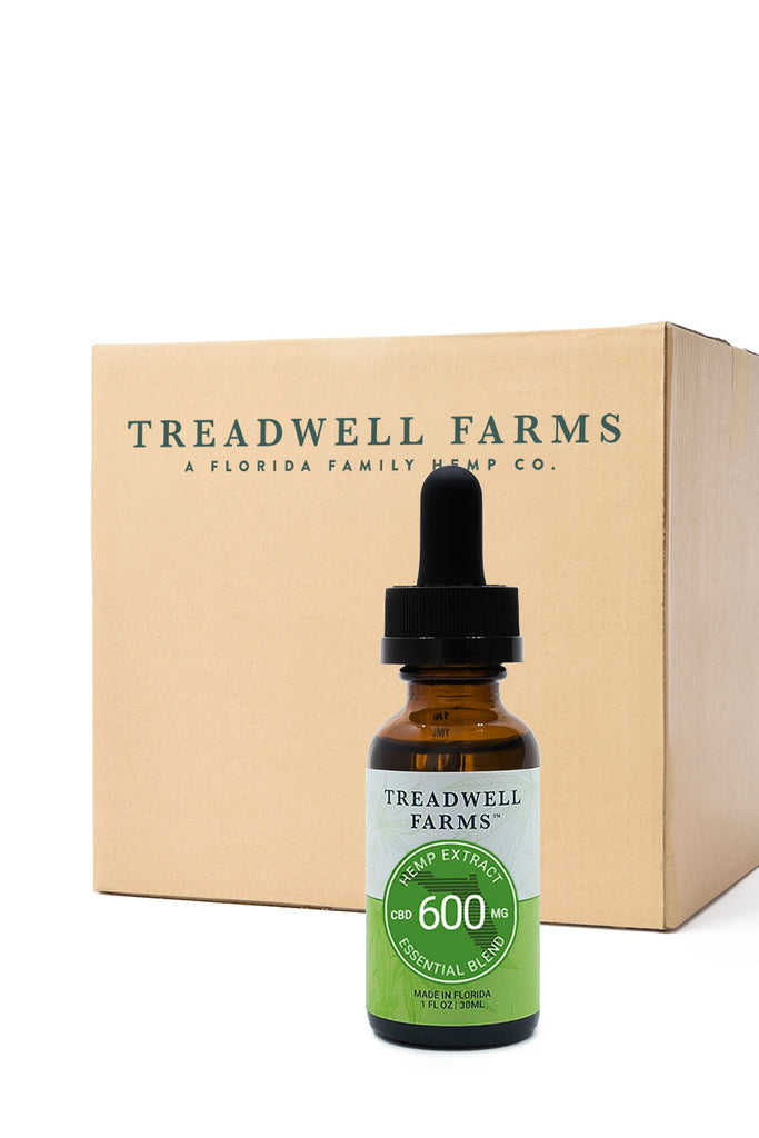 Treadwell Farms Essential Blend Hemp Extract 9 bottle cases available