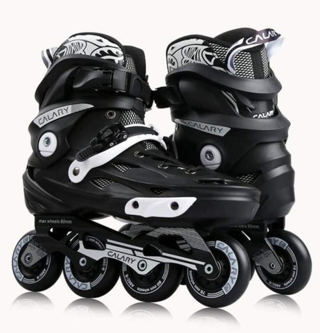CALARY C9 Rockered Inline Skate - White or Blue highlights