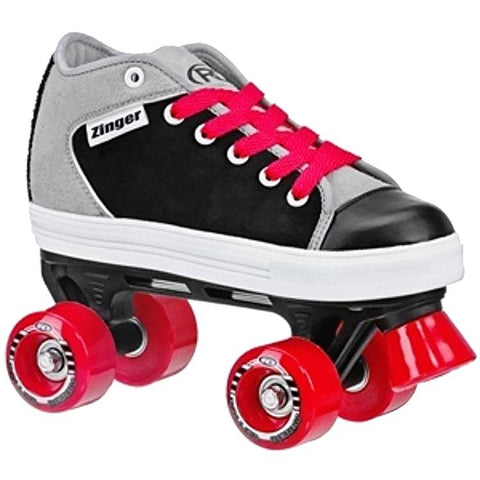 DS Zinger kids quad skate - Red/Black