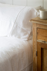 Queen Linen Bed Sheet Set