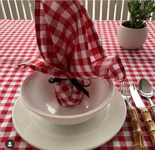 Load image into Gallery viewer, Red Gingham 2.5m Tablecloth