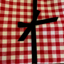 Load image into Gallery viewer, Red Gingham Tablecloth 3m