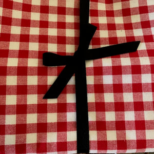 Red Gingham Tablecloth 3m