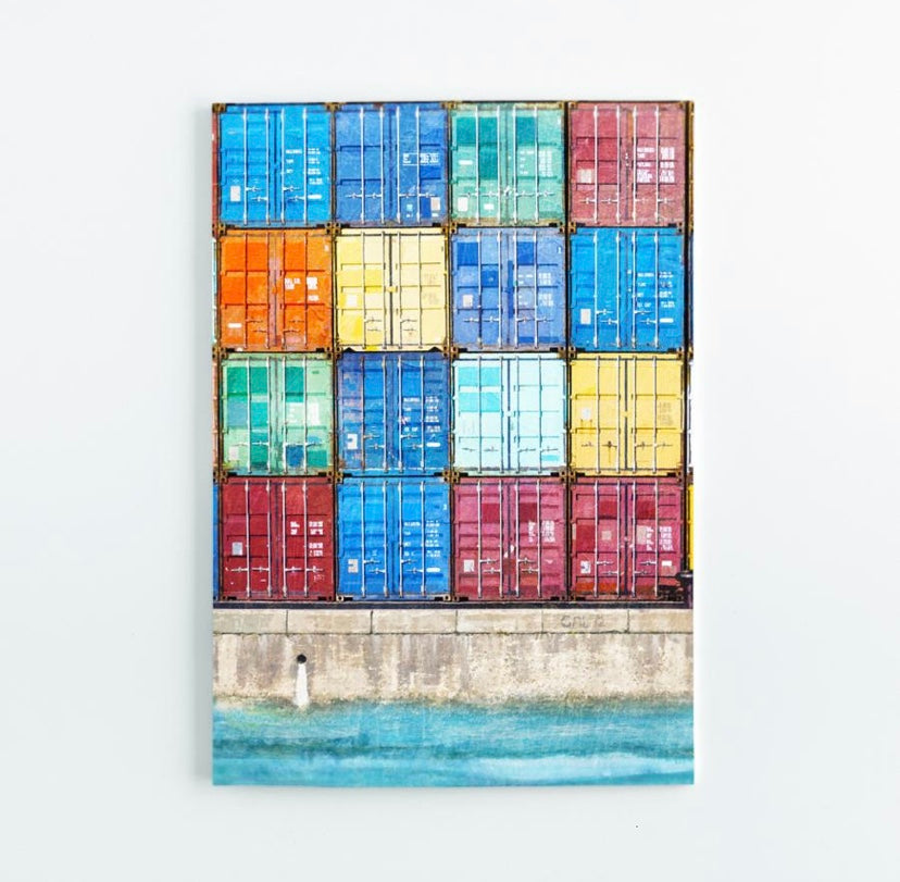 Shipping Container A5 Notepad