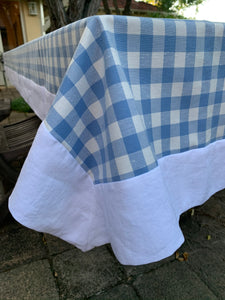 Blue Gingham Tablecloth 2.5m
